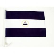 """Nicaragua Car Flag  - 12 x 18"""" - Plastic Clip"""""""