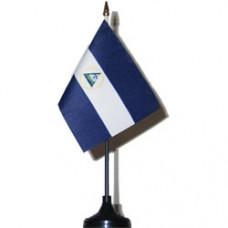 Nicaragua 4 X 6 inch desk flag