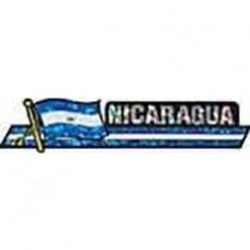 Nicaragua flag 11.5 inch X 2.5 inch bumper sticker