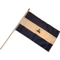 Nicaragua Large 100% Cotton flag 12  X 18 inches with a 24 inch stick