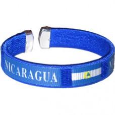 NEW Nicaragua Flag Metal Tip Bracelet