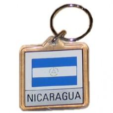 Nicaragua Square key ring
