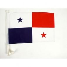 "Panama Car Flag  - 12 x 18"" - Plastic Clip"""