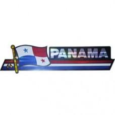 Panama 11.5 inch X 2.5 inch bumper sticker