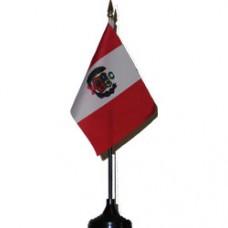 Peru 4 X 6 inch desk flag