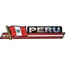 Peru flag 11.5 inch X 2.5 inch bumper sticker