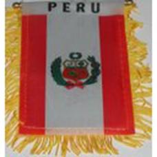 Peru flag mini banner