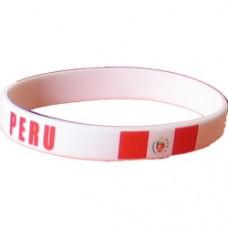 Peru Flag Silicon Bracelet