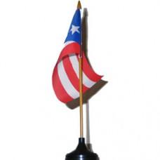 Puerto Rico 4 X 6 inch desk flag