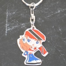 Puerto Rico New Girl Square key ring