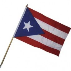 Puerto Rico 100% Cotton flag 12  X 18 inches with