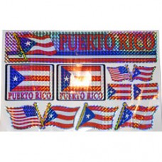 Puerto Rico Multi-Pack Laser Stickers  FLAG DESIGN