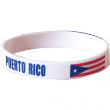 Puerto Rico Flag Silicon Bracelet