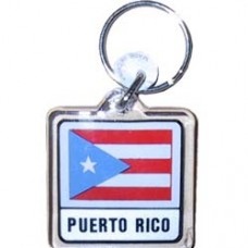 Puerto Rico Square key ring