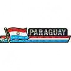 Paraguay flag 11.5 inch X 2.5 inch bumper sticker