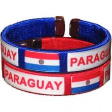 Paraguay Flag Metal Tip Bracelet