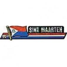 St. Maarten flag 11.5 X 2.5 inch bumper sticker