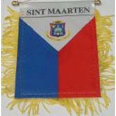 St. Martin/Maarten flag mini banner
