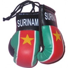 Suriname flag mini boxing gloves