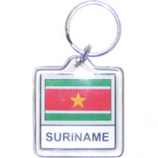Suriname Square key ring
