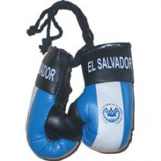 El Salvador flag mini boxing gloves
