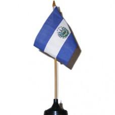 El Salvador 4 X 6 inch desk flag