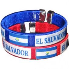 El Salvador Flag Metal Tip Bracelet