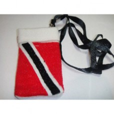 Trinidad and Tobago cellphone pouch w/ neck strap