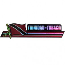 Trinidad And Tobago 11.5 inch X 2.5 inch bumper sticker