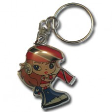Key Chain - Girl w/Flag - Trinidad
