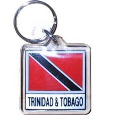 Trinidad And Tobago Square key ring