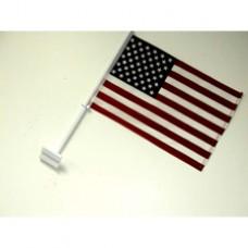 """United States Car Flag  - 12 x 18"""" - Plastic Clip"""""""