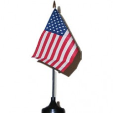 U. S. A. 4 X 6 inch desk flag