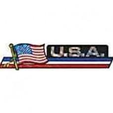U.S. flag 11.5 inch X 2.5 inch bumper sticker