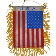 USA flag mini banner