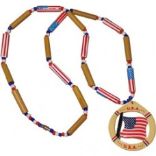 United States flag beaded necklace