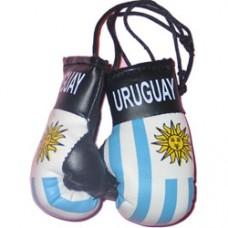 Uruguay flag mini flag boxing gloves