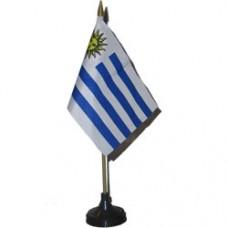 Uruguay 4 X 6 inch desk flag
