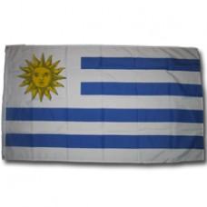 Uruguay 3 feet X 5 feet polyester flag