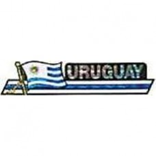 Uruguay flag 11.5 inch X 2.5 inch bumper sticker
