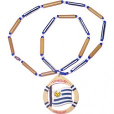Uruguay flag necklace