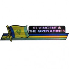 St. Vincent And The Grenadines 11.5 inch X 2.5 inch bumper sticker