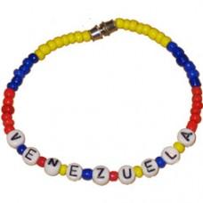 Venezuela Flag Beaded Bracelet