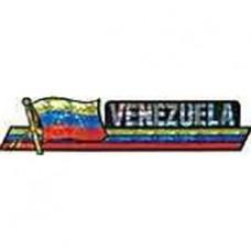 Venezuela flag 11.5 inch X 2.5 inch bumper sticker