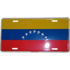 Venezuela flag license plate