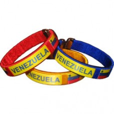 Venezuela flag metal tip silk bracelet