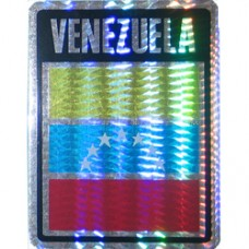 Venezuela flag 4X3 inch window decal