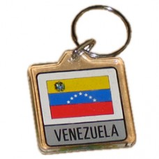 Venezuela flag square lucite key ring