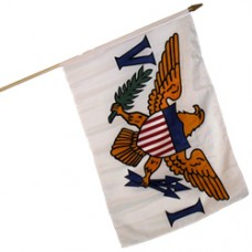 U. S. Virgin Islands 12 X 18 flag 100% Cotton.
