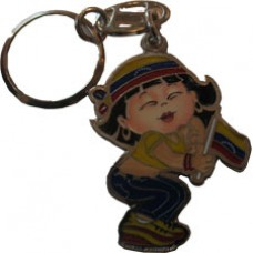 Venezuela flag girl key ring